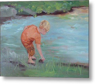 Metal Print featuring the painting Skipping Stones by Carol Berning