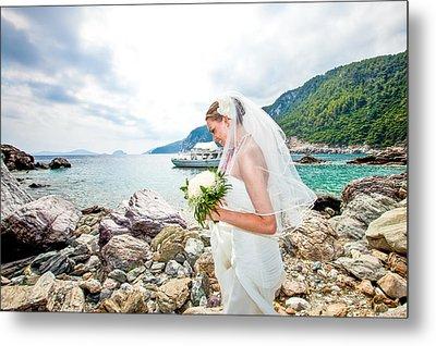 Skopelos Mamma Mia Wedding Metal Print by Nick Karvounis