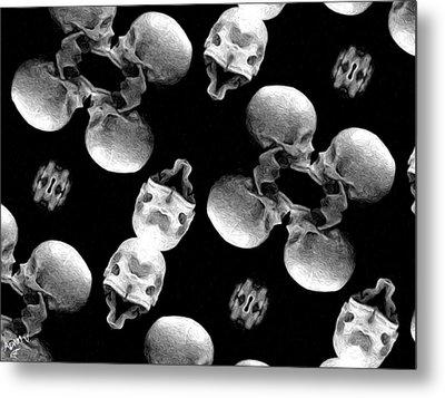 Skull Scope 8 Metal Print by Adam Vance