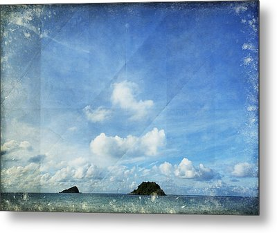 Sky And Cloud On Old Paper Metal Print by Setsiri Silapasuwanchai