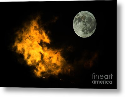 Sky And Moon Metal Print by Odon Czintos