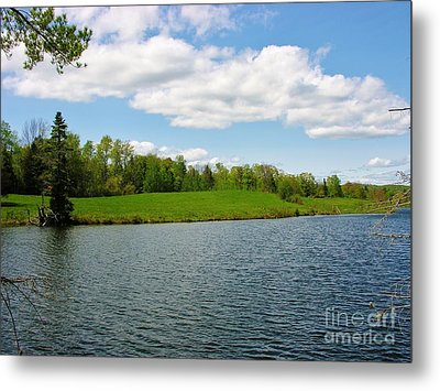 Metal Print featuring the photograph Sky And Water Almost Meet by Sherman Perry