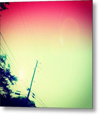 #sky #edit #cary #prettycolors #pink Metal Print by Katie Williams