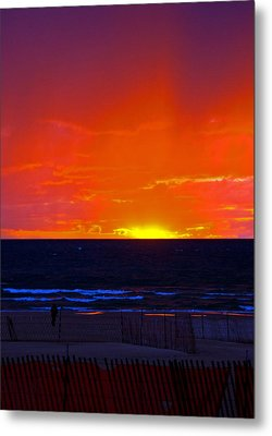 Metal Print featuring the photograph Sky Fire by Randall  Cogle