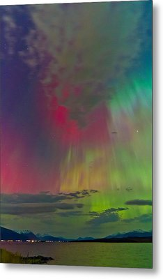 Sky Full Of North Light Metal Print by Frank Olsen