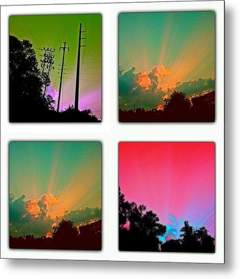 Sky Pop Art Metal Print by Stacy Sikes