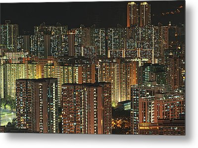 Skyline At Night Metal Print by Ryan Cheng Photography