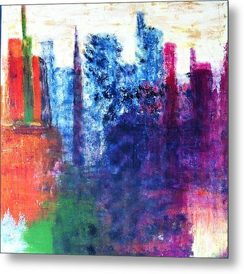 Metal Print featuring the painting Skyline by Kristine Bogdanovich