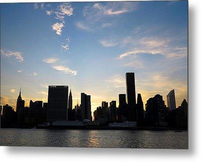 Skyline Sunset Silhouette Metal Print by Heidi Hermes
