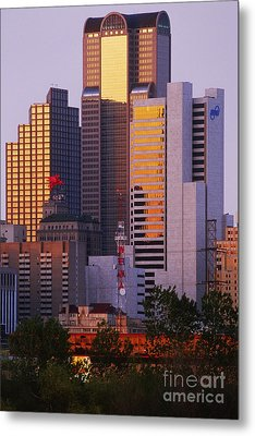 Skyscrapers In Downtown Dallas Metal Print by Jeremy Woodhouse