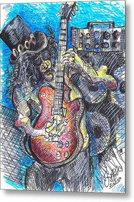 Slash Distortion  Metal Print by Jon Baldwin  Art