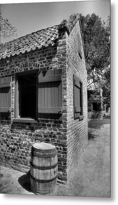 Slave Cabins Metal Print by Steven Ainsworth