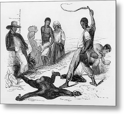 Slave Punishment In The French West Metal Print by Everett