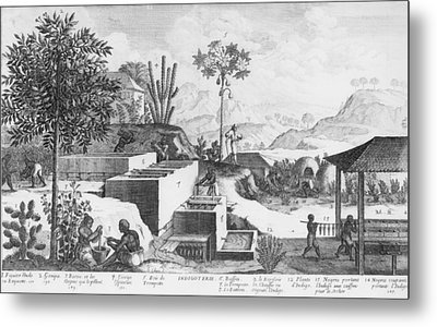 Slaves And Their Overseer Working Metal Print by Everett