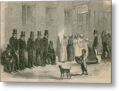 Slaves For Sale In New Orleans In April Metal Print by Everett
