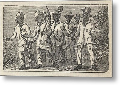 Slaves Often Travel In �coffles,� Metal Print by Everett