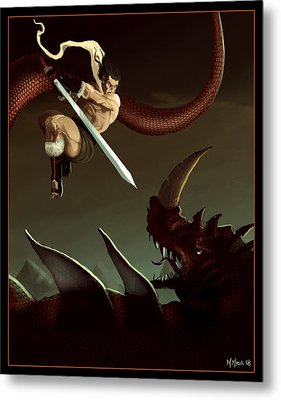 Metal Print featuring the digital art Slay The Dragon by Michael Myers