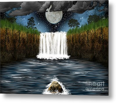 Sleepy River Metal Print