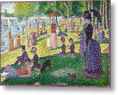 Small Bubbly Sunday On La Grande Jatte Metal Print by Mark Einhorn