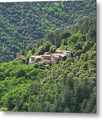 Small House On Mountain Metal Print by Filou-France