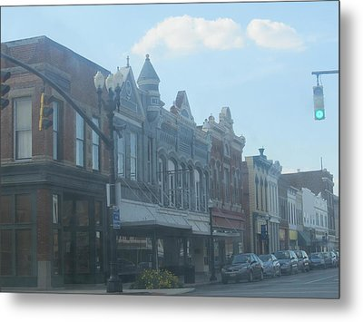 Metal Print featuring the photograph Small Town Proper by Tina M Wenger