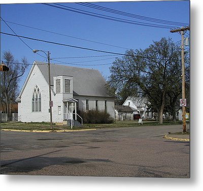 Small Town Religion Metal Print by Steve Sperry