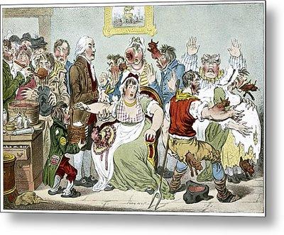 Smallpox Vaccination, Satirical Artwork Metal Print by