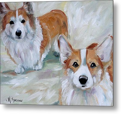 Smarty And Rosie Metal Print by Mary Sparrow