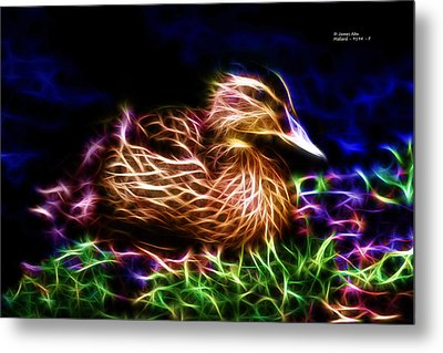 Smile Juvenile Mallard - Fractal Metal Print by James Ahn