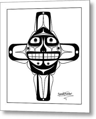 Smiling Sun Black Metal Print by Speakthunder Berry