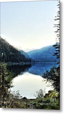 Smoke Behind Marshal Lake Metal Print by Janie Johnson