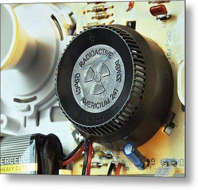 Smoke Detector Radiation Source Metal Print by Martin Bond