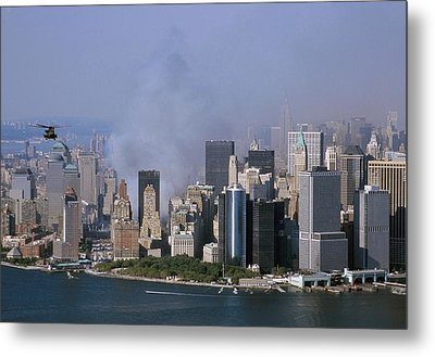 Smoke From The Ruins Of The World Trade Metal Print by Everett