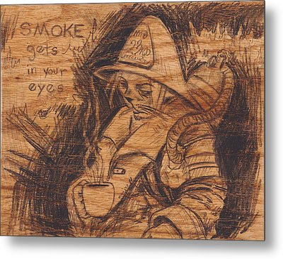 Smoke Gets In Your Eyes Metal Print by Canis Canon