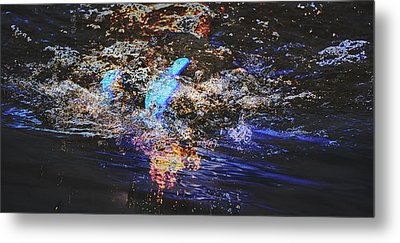 Smoke On The Water Metal Print by Kelly Reber