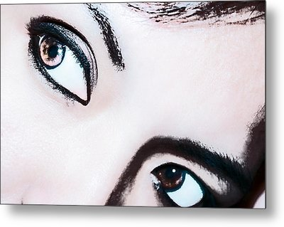 Metal Print featuring the digital art Smokey Eyes Of A Woman by Ester  Rogers