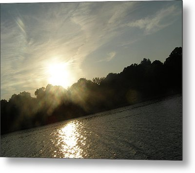 Smokey Sun Metal Print by Brityn Klehr