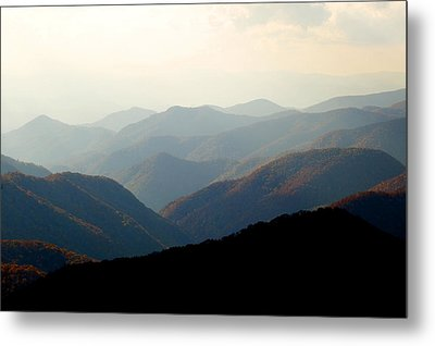 Smoky Mountain Overlook Great Smoky Mountains Metal Print by Rich Franco