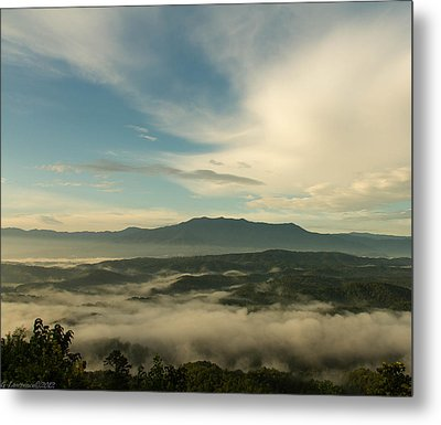 Smoky Mountain Rise   Metal Print by Glenn Lawrence