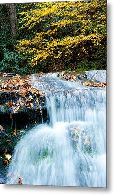 Smoky Mountain Waterfall Metal Print