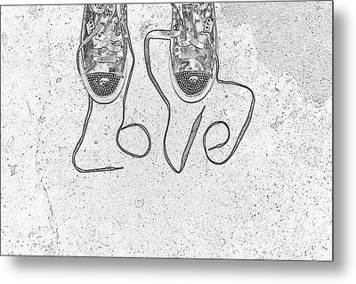 Sneaker Love 2 Metal Print by Paul Ward