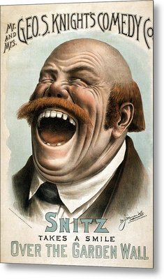 Snitz Takes A Smile Over The Garden Metal Print by Everett