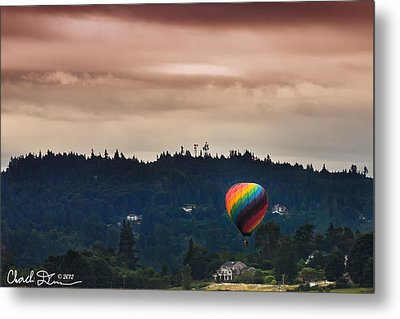 Snohomish Baloon Ride Metal Print by Charlie Duncan