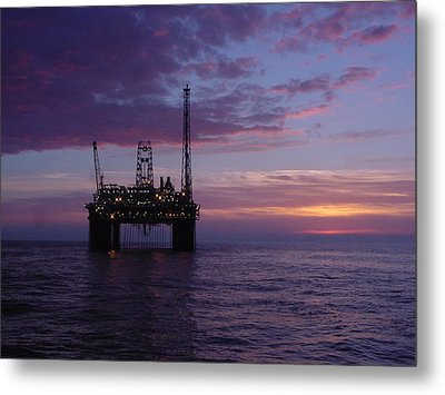 Metal Print featuring the photograph Snorre Sunset by Charles and Melisa Morrison