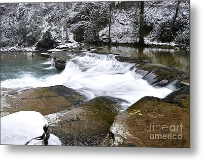 Snow Along The Back Fork Of Elk River Metal Print by Thomas R Fletcher