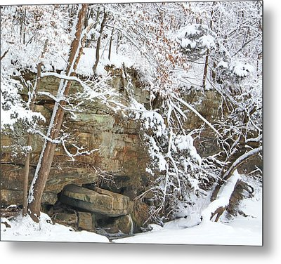 Snow And Sandstone Metal Print