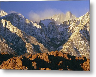 Snow Blows From Mount Whitney. The Metal Print by Phil Schermeister