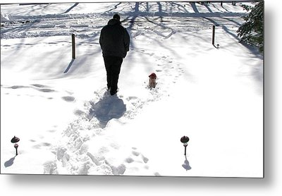 Metal Print featuring the photograph Snow Buddies by Pamela Hyde Wilson