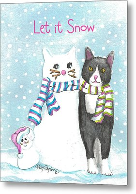 Snow Cats Metal Print by Terry Taylor