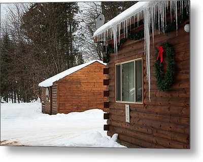 Metal Print featuring the photograph Snow Covered General Store by Ann Murphy